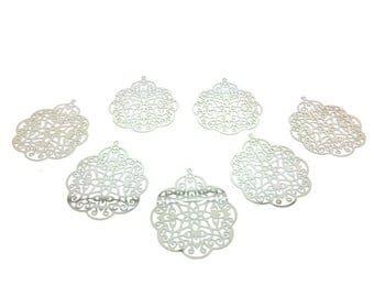 10 prints openwork 41x33mm silver Platinum
