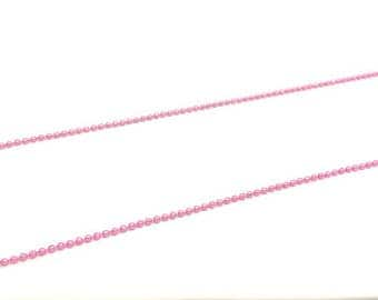 5 m ball balls 1.5 mm, color Pink Pearl chain