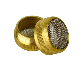 Brass Jewelry Cleaning Basket 16 mm Round Ultrasonic Non Magnetic Mesh Screen Parts Holder Screw Type - CLNG-0005