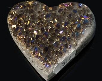 Titanium Aura Quartz Crystal Heart 3.3 oz. A-812