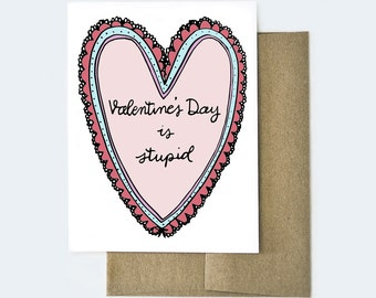 Funny Card for Friend, Anti Valentines Day Card, Galentine's Day Card, Best Friend Card, Friendship card, Galentine's Day