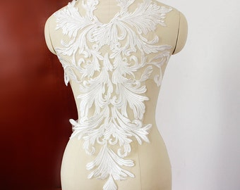 White Lace Appliques Venice Lace Flower Collars Corsage Costome Decor Lace Patches 1pc YL528