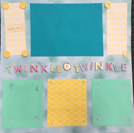 Scrapbooking: Twinkle,Twinkle, 12x12 Premade Scrapbook Page