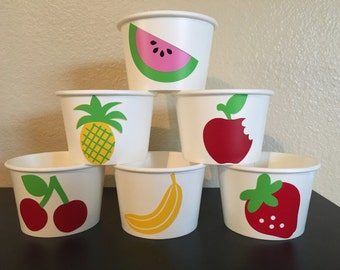 Fruit Party Snack Cups, Farmers Market Party