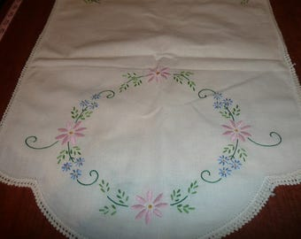2 Embroidered Dresser Scarves For Cutting