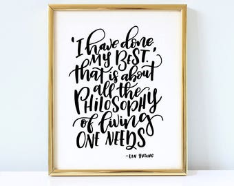 Life Quote - Inspirational Printable Lettering Quote in a brush calligraphy style