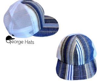 Toddler & Kids Trucker Hat / Baby Trucker Hat / Kids Snapback / BLUE SERAPE