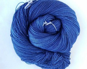 96' Tardis Blue hand painted indie yarn