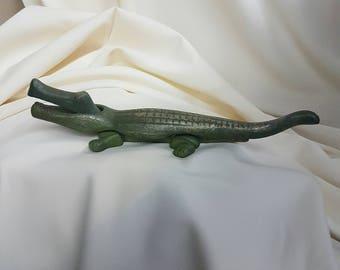 Antique Brass Alligator nutcracker