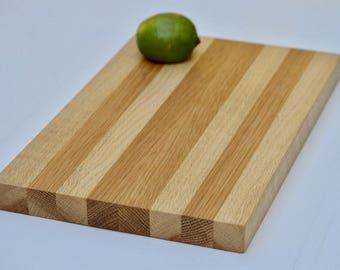 White Oak Striped Cutting Board