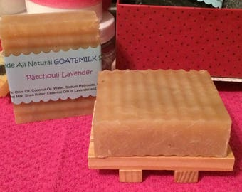 Lavender Patchouli Goatsmilk soap 5oz bar handmade natural