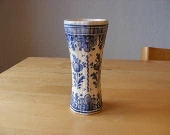 Vintage Delftse Pauw vase, Delft, blue delft