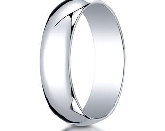 6mm Wedding Ring 14kt White Gold, Simple Wedding Ring, Gold Wedding Band, Yellow Gold wedding band, Rose gold wedding band, plain gold ring