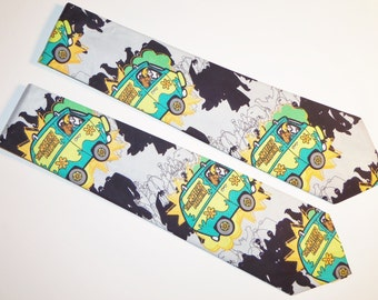 Scooby Doo Mystery Machine Cartoon Inspired Adult Necktie