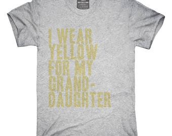 I Wear Yellow For My Granddaughter Awareness Support T-Shirt, Hoodie, Tank Top, Gifts