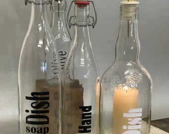 Dish-soap bottle. Recycling.