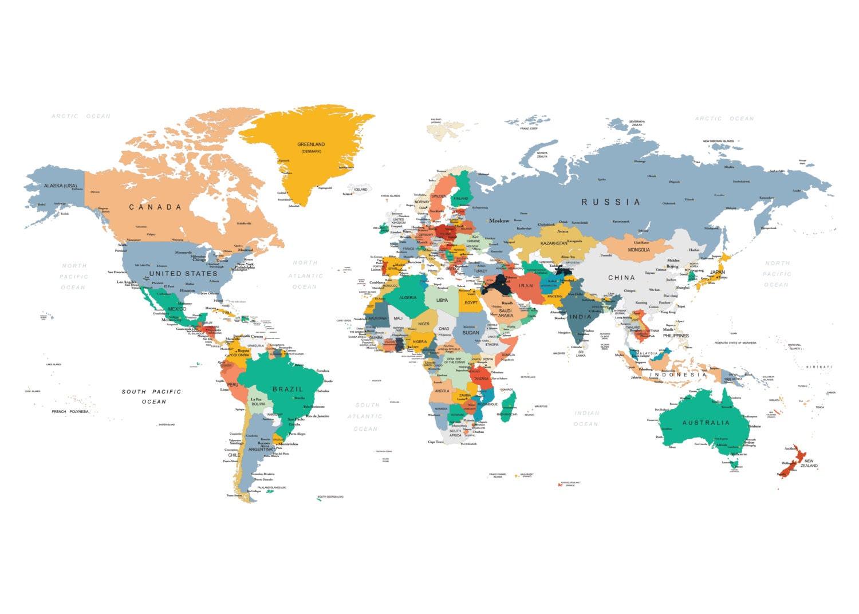 Adventure Nursery Push Pin Map Push Pin Travel Map World