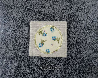 #libertylibertecherie blue flower brooch