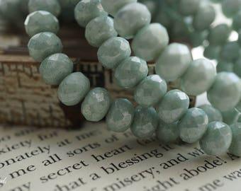 Light Seafoam, Rondelle Beads, Czech Beads, Beads, N2256