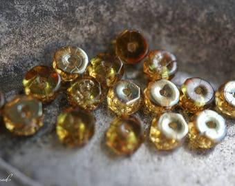 Topaz Bliss, Rondelle Beads, Czech Beads, Beads, N2431