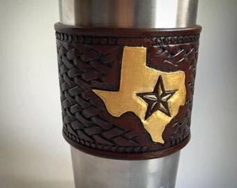 Gold Texas Yeti Sleeve