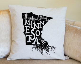 Minnesota Pillow Cover, Minnesota State Decor, Minnesota,USA,Housewarming Gift, Pillow, Home Pillow, State Pillow, Pillow Cover,Wedding Gift