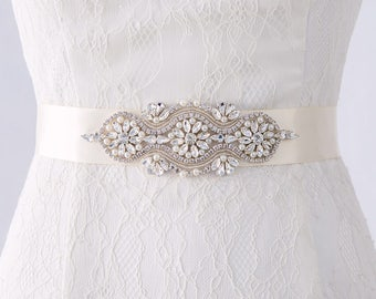 Bridal Belt, Bridesmaid Belt, Bridal Belts and Sashes, Wedding Belts and Sashes, Wedding Dress Belt, Bridal Sash Belt, Bridal Belts