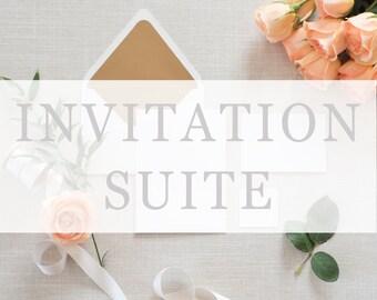 Printed Wedding Invitation Suite (Invitation, RSVP & Info Card)
