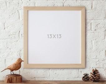 13x13, Wood Frame, Picture Frame, Square Frame, Scrapbook frame, Art Frame, Photo Frame, Craft Frame, Wedding, Gallery Wall frame