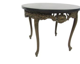 French Carved Side Table Louis XVI  French Table Paris Apartment Coffee Table Vintage French Marble top Accent Table French Carved End Table