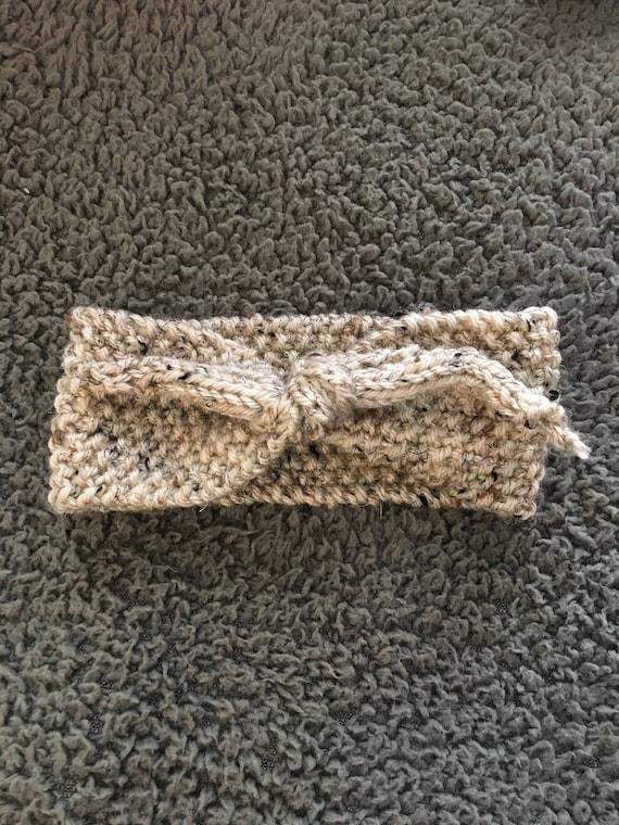 Top knot headband, vintage style knot headband, rockabilly fashion, womens headband, knit headband, womens fashion,