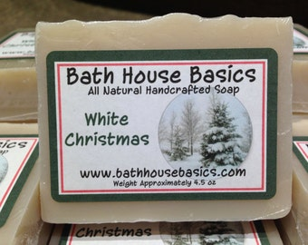 White Christmas Handcrafted Soap