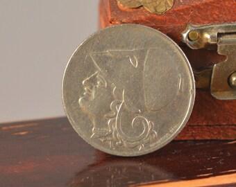 Vintage 2 drachma 1926 greek ,coin greek,athena