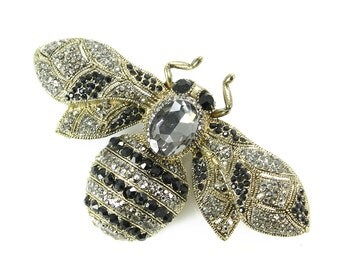 Bee Brooch, Bumblebee Broach, Bumblebee, Bee Jewelry, Brooches, Bees, DIY Project Craft Embellishment
