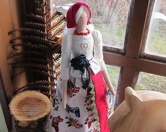 Dala Horse Girl Handmade doll Textile doll Interior doll Art doll Soft doll Tilda Doll
