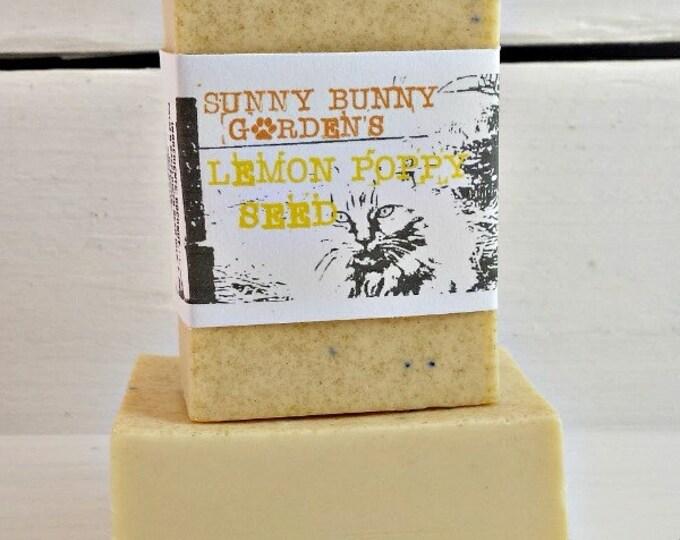 Lemon Soap, Fresh Scented Soap, All Natural Lemon Soap, Soaps For Her, Exfoliating Vegan Soap, Sunny Bunny Gardens, Vegan Lemon Soap