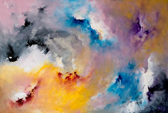 Original Lyrical Abstract Painting, Quintessence by Krystle Cole. FREE SHIPPING!