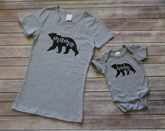Mommy and Me Set, Mama/Baby Bear Shirts