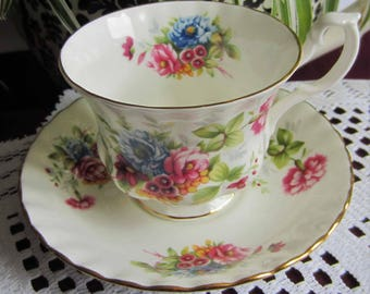 Royal Albert  Un-Named #1 from the SUMMERTIME SERIES - Bone China Tea Cup and Saucer