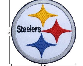 Pittsburgh Steelers Black Line Embroidered Iron On Patch.