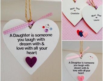 Personalised Daughter Quote Handmade Plaque - Personalised Daughter Gifts - Mother & Daughter Gifts - Daughter Quote Gifts - Mummy Gifts
