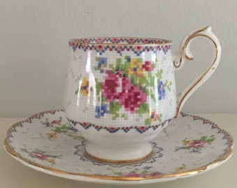 Royal Doulton Petit Point Demitasse Cup from the 1960's