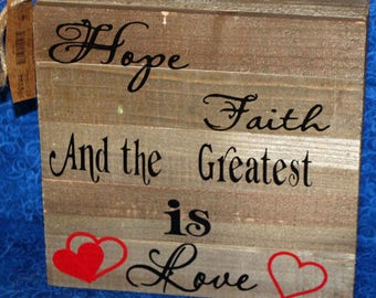 Wooden Boxed Sign with Vinyl Saying