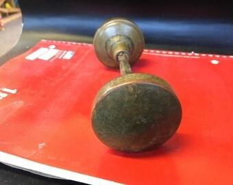 Set of Antique Brass door knobs