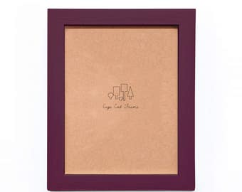 8x10 Picture Frame. Burgundy 8x10 Frame. Solid Wood Photo Frame.