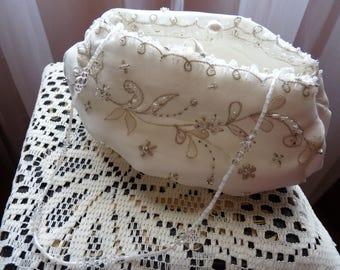 Lovely vintage Wedding pouch/bag~ Beaded bag ~ Wedding purse