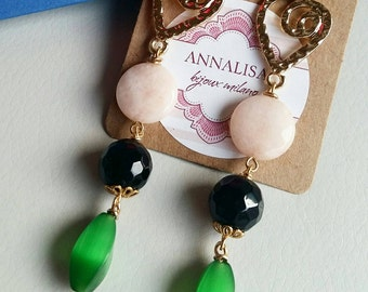 GOLD EARRINGS WITH STONES