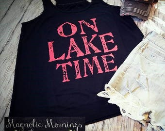 On Lake Time Tank Boho/Gypsy/Western Tank