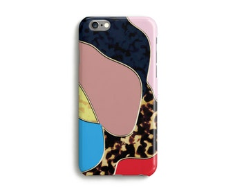 Bubble Panther Phone Case, iPhone 7, 6, 6s, Plus, SE, 5, 5s, 5c, abstract tortoise pattern case, Samsung, S8, S8 Plus, Google Pixel, Red