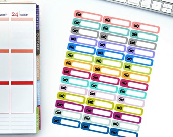 Car Mini Label Stickers! Perfect for your Erin Condren Life Planner, calendar, Paper Plum, Filofax!